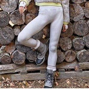 New Free People Good Karma gray leggings M / L